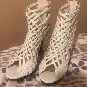 Shoes - White Sexy Sandal NWOT